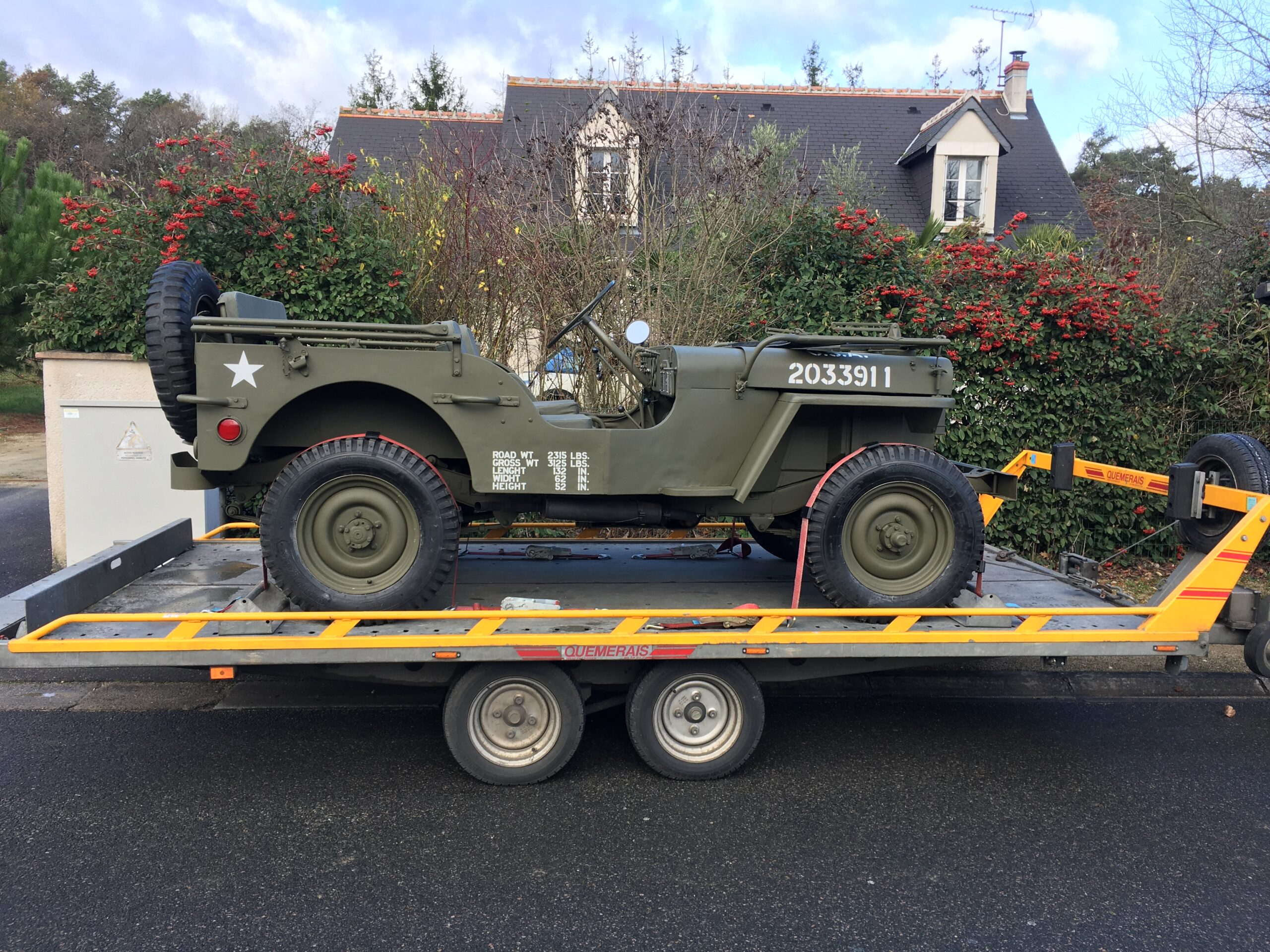Transport Jeep Willys